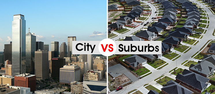 Buying in the city verse the suburbs